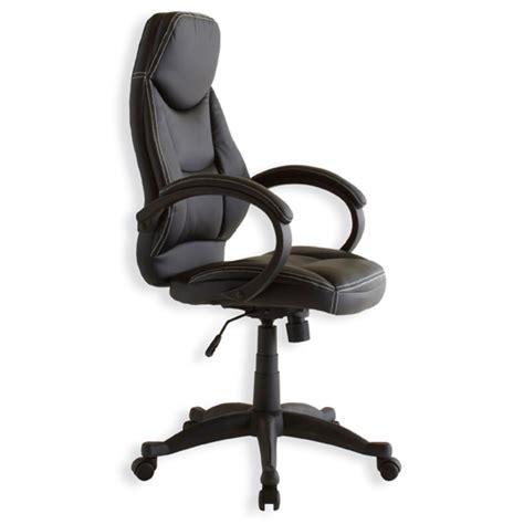 basika bureau fauteuil de bureau marvin noir