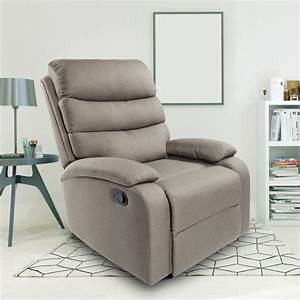 Recliner Chair  Fabric Manual Recliner Chair  Overstuffed