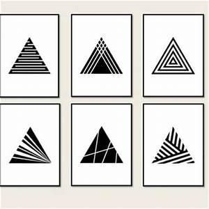 Set 6 Prints Minimalist Geometric from Artvintageprint on Etsy