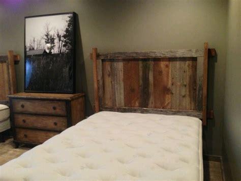 Reclaimed Wood Wall Mount Headboard