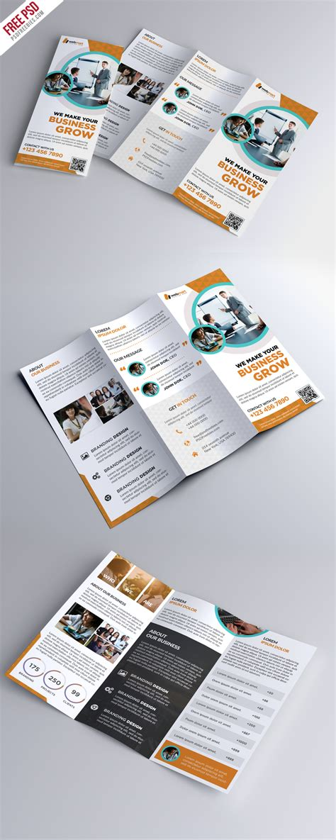 Trifold Brochure Template Free Psd Uxfree Trifold Brochure Template Free Psd Uxfree