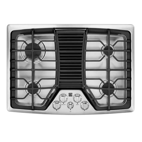 gas cooktop downdraft kitchenaid gas cooktop 30 in kgcd807xss sears