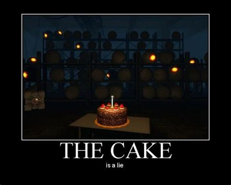 the cake is a lie cake avoid this