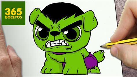 como dibujar  perro hulk kawaii paso  paso dibujos kawaii faciles   draw  dog hulk