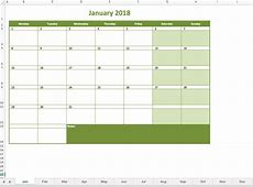 Monthly calendar 2018 Excel Templates for every purpose