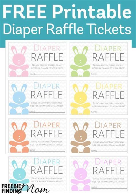 printable diaper raffle  baby shower prizes