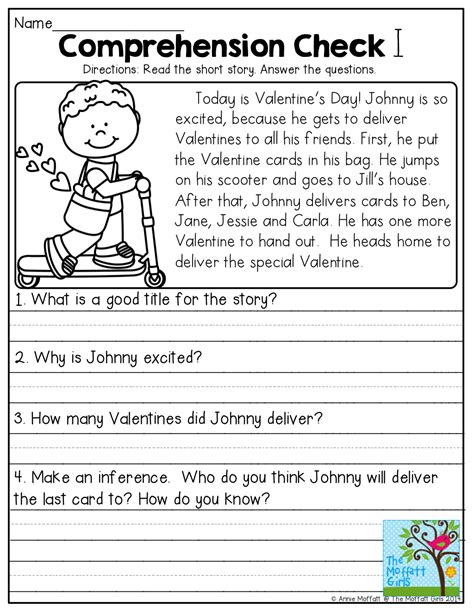 comprehension check  tons   great printables