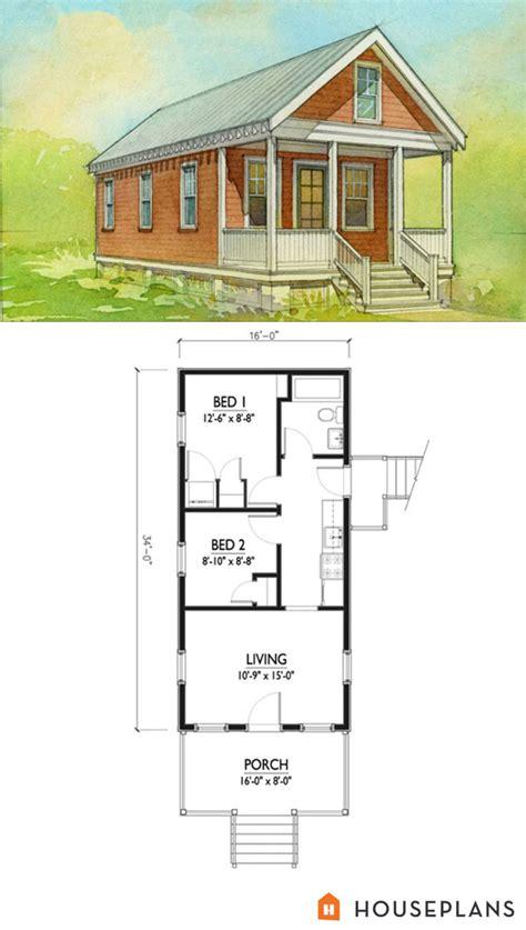 small katrina cottage floor plan  elevation  br houseplan number   plans pinterest