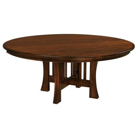 ashton round pedestal dining table arts crafts pedestal extension table amish tables