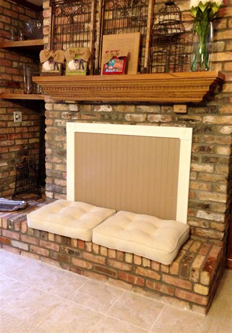 fireplace cover home projects   pinterest