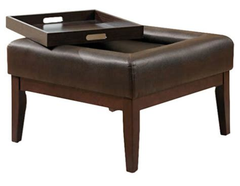 coffee table ottoman combo 36 top brown leather ottoman coffee tables