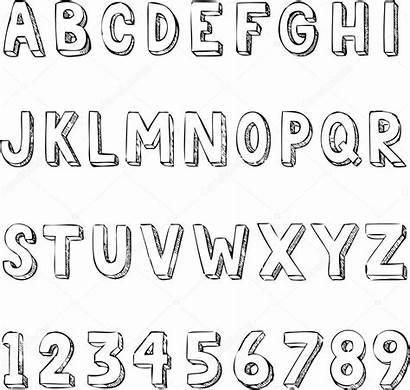 Alphabet Typography Letters Hand Drawn Trendy Illustration