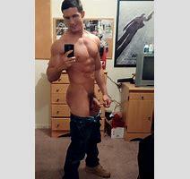 Shirtless Jock With His Pants Dropped Down Nude Gay Man