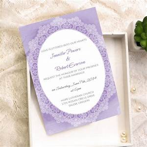 cheap lavender lace watercolor wedding invitation kits With lavender wedding invitations kits