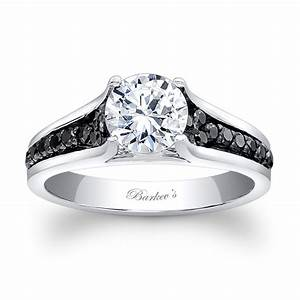 barkev39s black diamond engagement ring 7698lbk barkev39s With wedding rings black diamonds