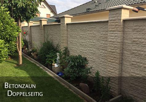 Gartenzaun Aus Beton by Zaun Betonzaun Doppelseitig Gartenzaun Garten Beton Ebay