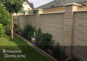 Sichtschutz Aus Beton : zaun betonzaun doppelseitig gartenzaun garten beton ebay ~ Orissabook.com Haus und Dekorationen