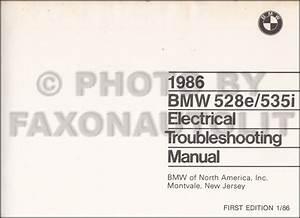 1986 Bmw 528e 535i Electrical Troubleshooting Manual Original