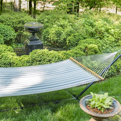 pawleys island large quilted fabric hammock cove pebble