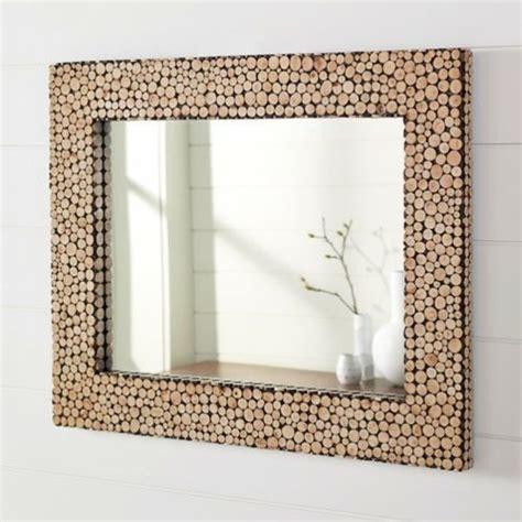 Rahmen Aus Holzscheiben Fuer Designer Spiegel by 15 Dekoideen F 252 R Diy Wandspiegel Rahmen Kreativ Und
