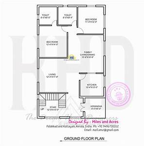 Wide Flat Roof House With Floor Plan Kerala Home Design