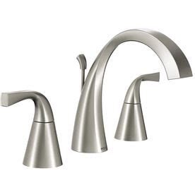 delta silverton faucet brushed nickel 1000 ideas about widespread bathroom faucet on