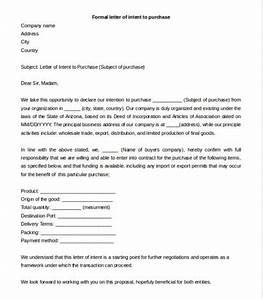 letter of intent template to purchase goods formal letter With i want to buy your house letter