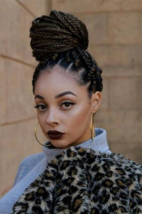 Braids Hairstyles by Box Braids Braided Hairstyles In 2019 Box Braids