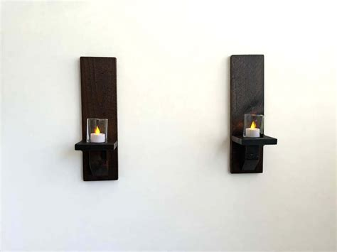 Rustic Wood Wall Sconces Candle Sconces Wall Candle Holders