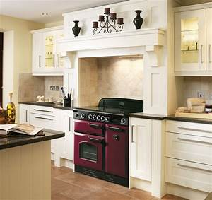 rangemaster classic 90 range cooker in cranberry dark red With kitchen design with range cooker
