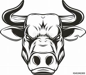 """Ferocious bull head"" Stock image and royalty-free vector ..."