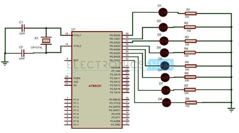Led Interfacing With Microcontroller Circuit