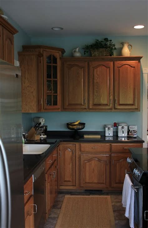 kitchen cabinet colors 2013 blue walls plus oak cabinets not sure if i this 5191