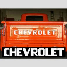 5487 Stepside Chevy Pickup Truck Tailgate Decal Letters