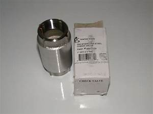 1 U0026quot  Americn Granby Stainless Steel Check Valve Water Pump
