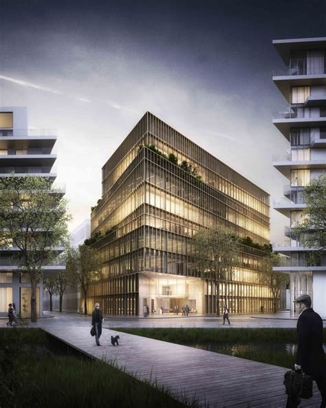 Modern Style Architectural Renders by Cultural Center Architectural Rendering Arch Student