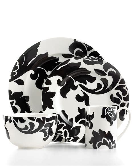 black and white dishes martha stewart collection lisbon black round collection