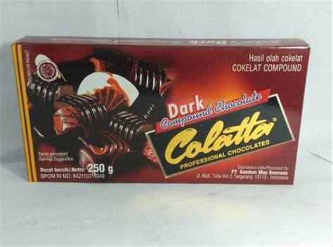 jual dark campound chocolate colatta grcoklat blok