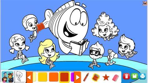 kolorowanki dla dzieci bubble guppies coloring book youtube