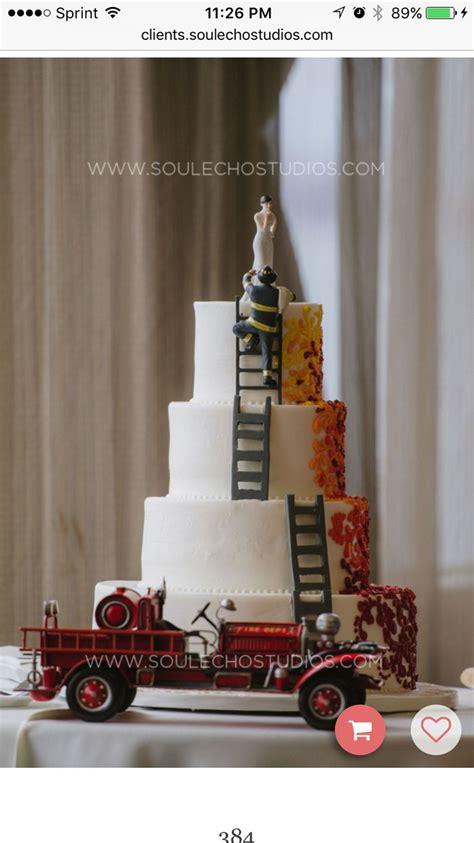 firefighter wedding cakes ideas  pinterest