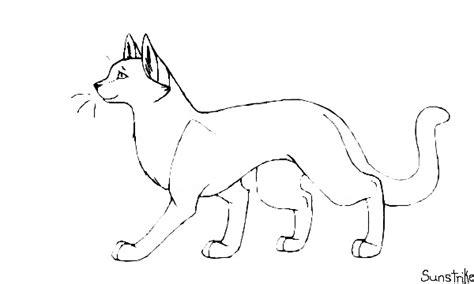 draw  warrior cat warrior cat template