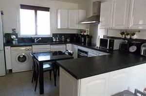 idee deco cuisine noir et blanc With idee deco cuisine avec cuisine noir et blanc