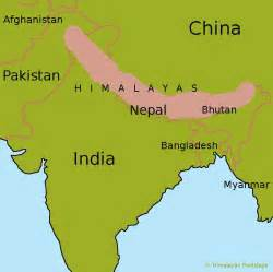 similiar where are the himalaya mountains on a map keywords