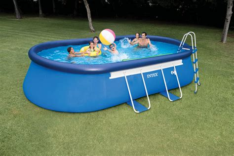 "Intex 12'x20'x48"" Above Ground Oval Frame Swimming Pool"