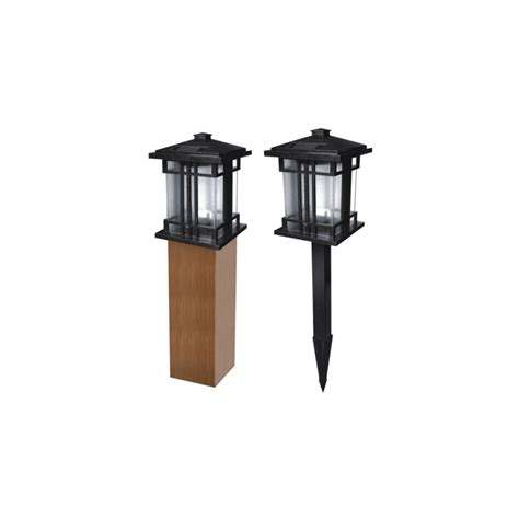 shop pine top sales black solar powered led path lights at