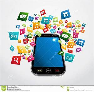 Smartphone Mobile Applications Royalty Free Stock ...
