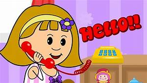 Elly talking to her Friends on the Telephone - Hello ...
