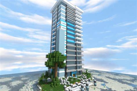 blue skyscraper minecraft building