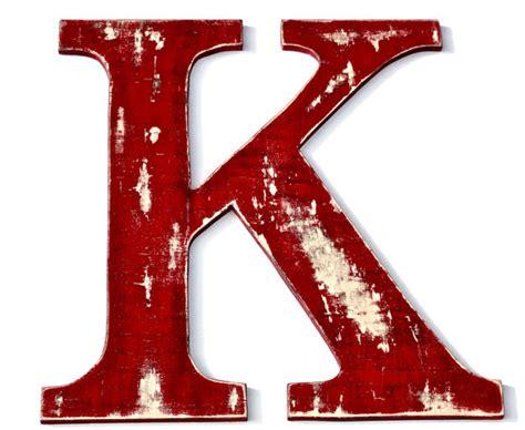 Custom Wood Letter K, Vintage Inspired Initial, Wedding