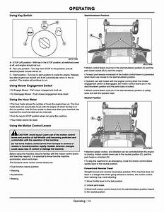 Using Key Switch  Using Mower Engagement Switch  Using The